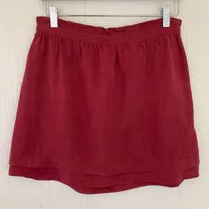 Love21 burgundy double layered mini skirt size M